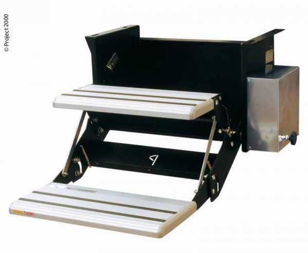 Elektrische Doppeltrittstufe, 48cm breit, für große Reisemobile
