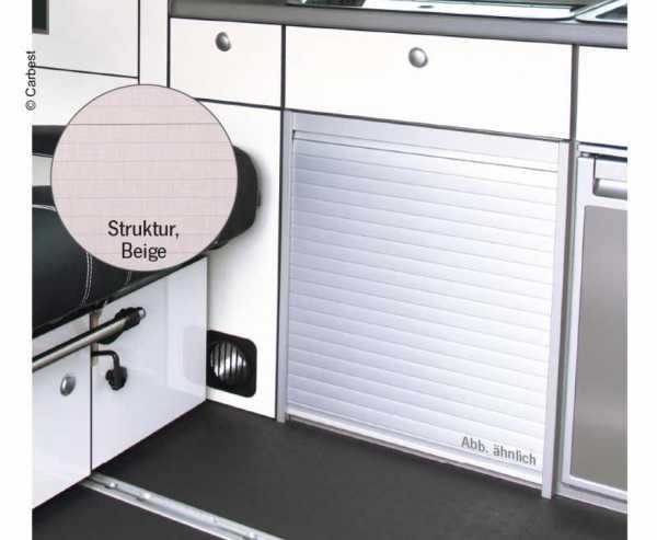 Rollladen-Kit inkl. Lamellen, Schienen Kurven Winkelprofil Beige