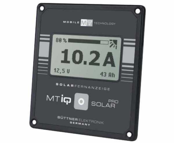 Universal-Solar-Fernanzeige, MT iQ Solar Pro, schwarz, 95x90x22 mm