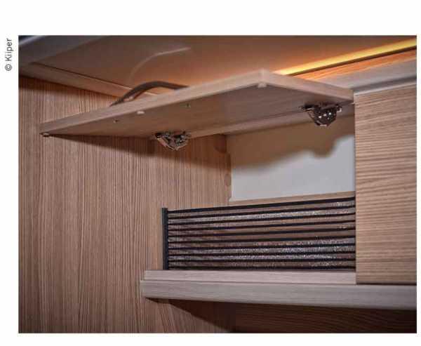 KIIPR-Mini Ablagenetz Set 1, für 200mm Einbaubreite, schwarz liniert