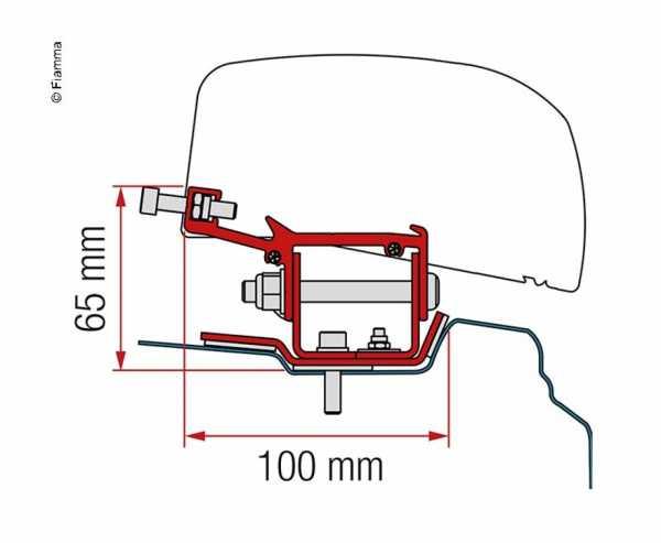 Adapter für Dachmarkise F40van Renault Trafic ab 2014 kurzer Radstand