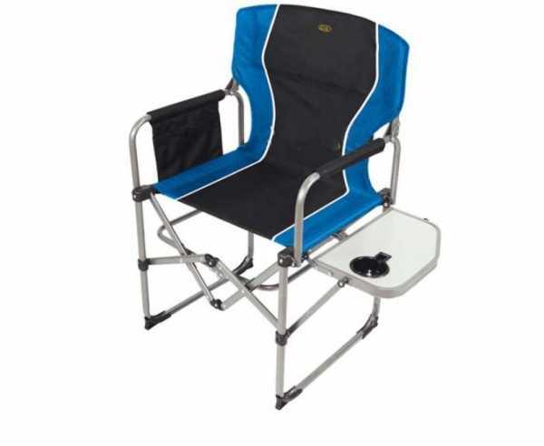 Faltstuhl Director's Chair Paloma, schwarz/blau, mit Tisch