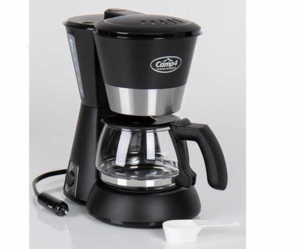 Kaffeemaschine 12V 170W, schwarz 650ml, 4-6 Tassen