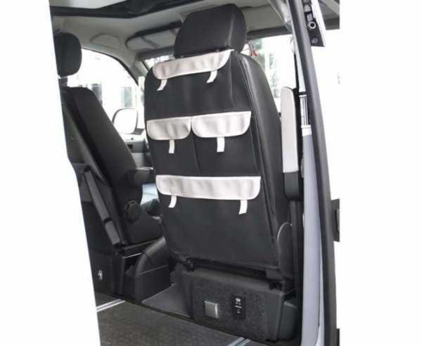 Organizer für Fahrersitz mit 4 Taschen, Kunstleder