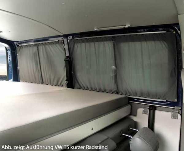VW T5/6 KR Multivan/Caravelle Vorhang System grau, blickdicht