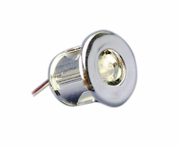 LED 12V, Mini Einbau Spot verchromt 0,06W
