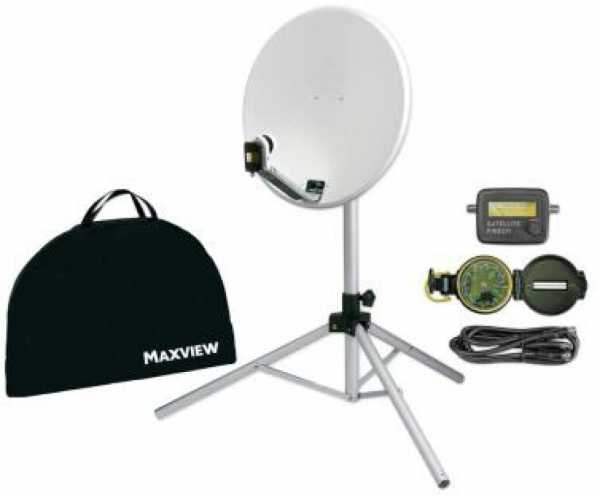 Maxview Portable Sat-Kit Light - 54cm-Spiegel mit Stativ