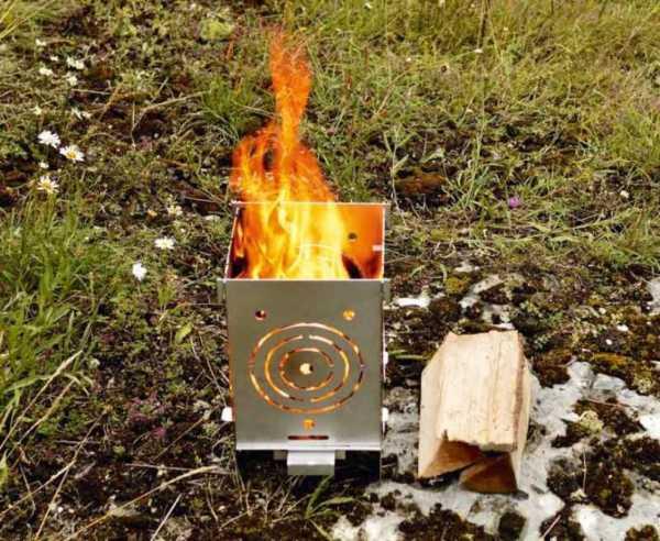 Feuerstelle 250,aus VA-Edelstahl 250 x 200 x 360 mm
