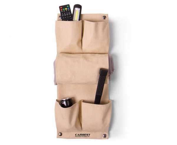 Organizer Deluxe mit 4 Taschen und Zeitungsfach, beige Mikrofaser