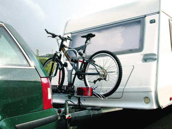 Deichseladapter Caravan, Aufnahme f. Fahrradträger