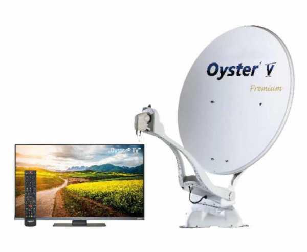 "Oyster® V Sat-Anlage 85 TWIN SKEW Premium mit 21,5"" Oyster® TV"