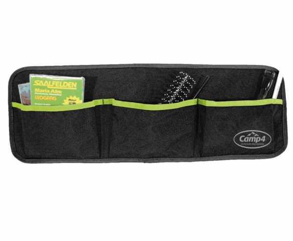 Utensilo Tessa 3 mit 3 Taschen Schwarz/Lime B60xH20cm Ösenbefestigung