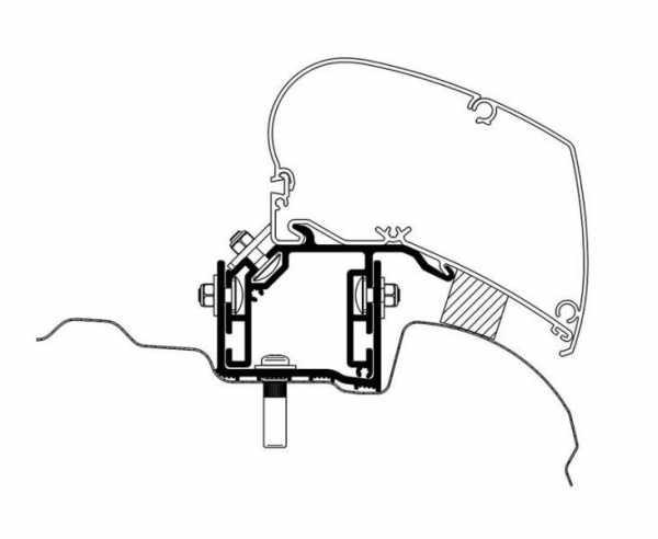 Thule Omnistor 6300 Markisen-Adapter für VW Crafter ab 2017