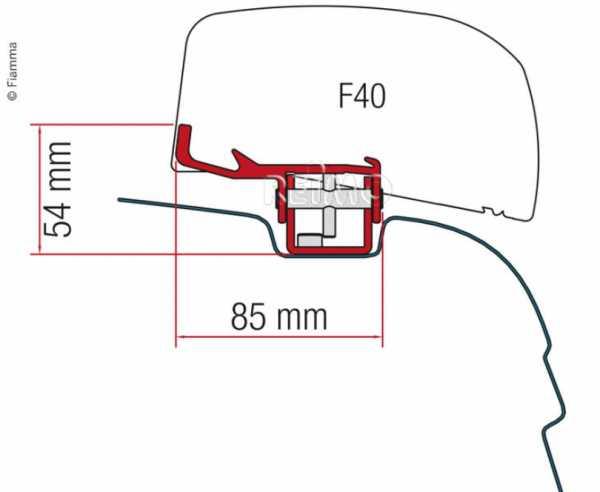 Fiamma Markisen-Adapter für Markise F40Van