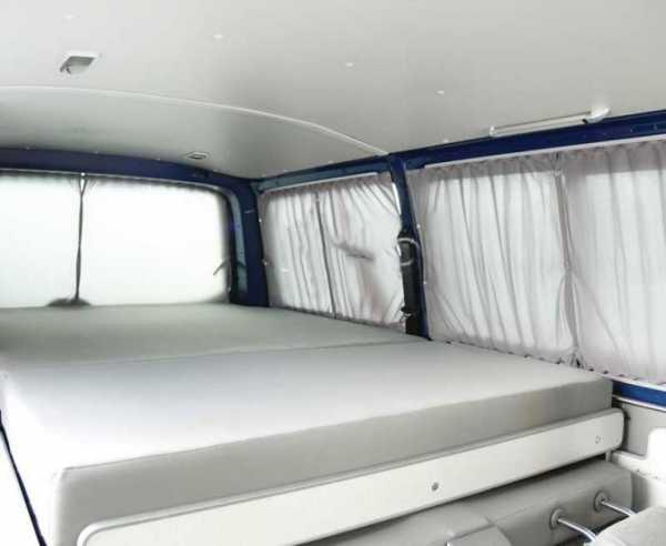 VW T6/5 LR Vorhang Set grau lichtdurchlässig