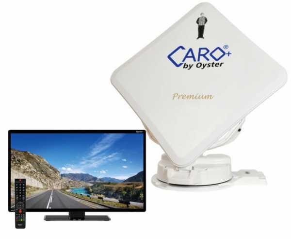 """Sat-Flachantenne Caro®+ Premium mit 32""""Oyster® TV"""