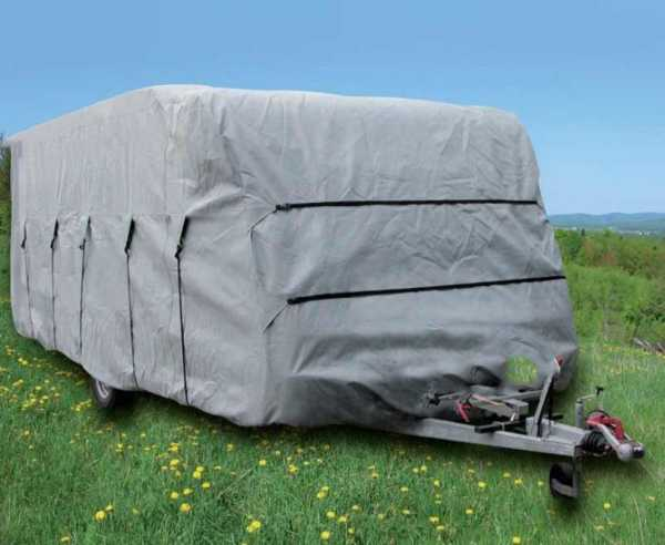 Wohnwagen Schutzhülle 580x230x220cm grau
