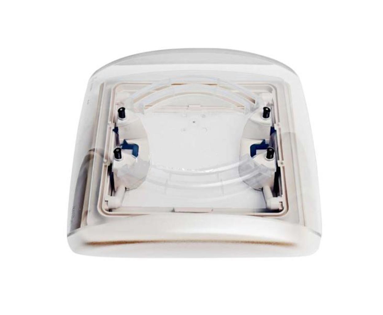 280 x 280 mm mit Fliegenschutz MPK Dachhaube Vision Vent S eco weiß