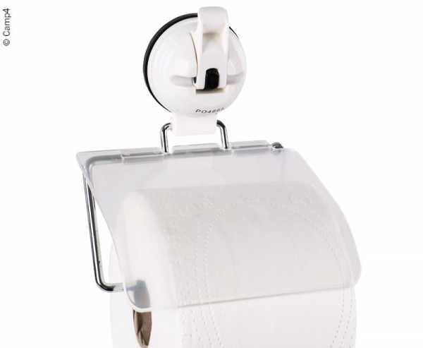 WC-Rollen Halter mit Saugnapf, weis, bis 3kg