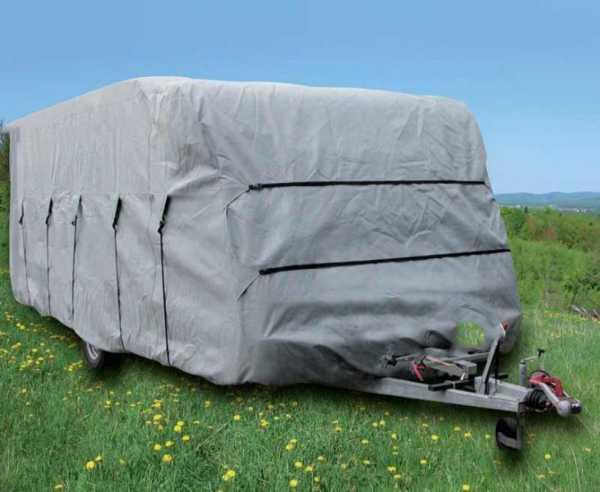 Wohnwagen Schutzhülle 640x230x220 cm grau