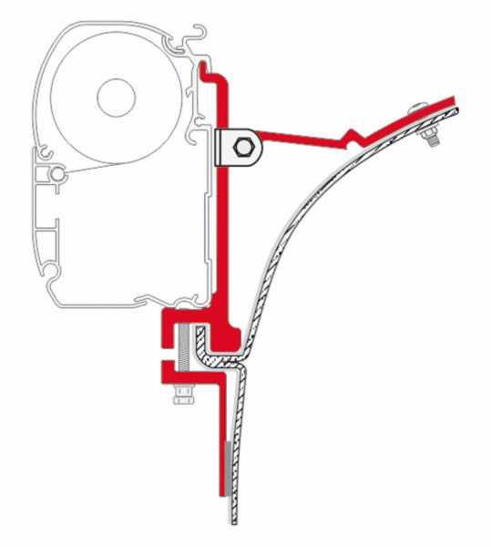 Fiamma F45 Adapter Mercedes Sprinter bis Baujahr 2006