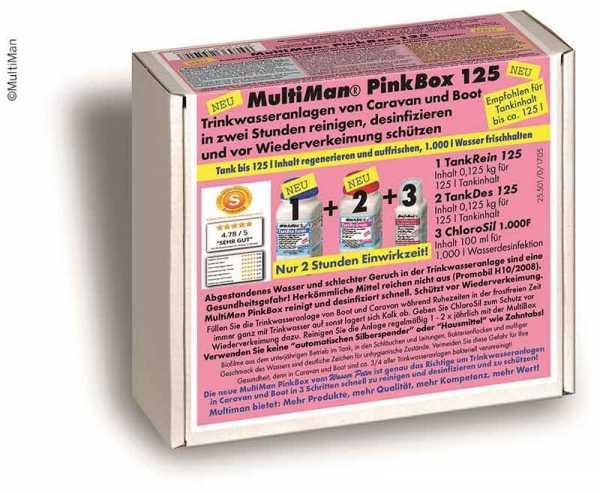MultiMan PinkBox 500 Reinigung der Trinkwasseranlage