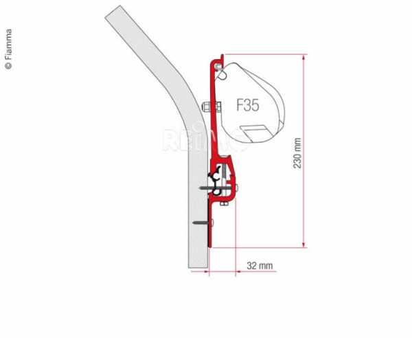 Adapter für Fiamma F35 Pro - Eriba Touring