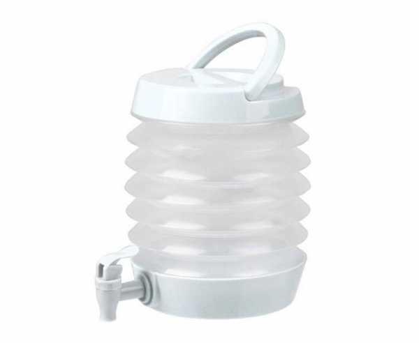 Faltbarer Wasserspender 3,5 Liter, Weiß