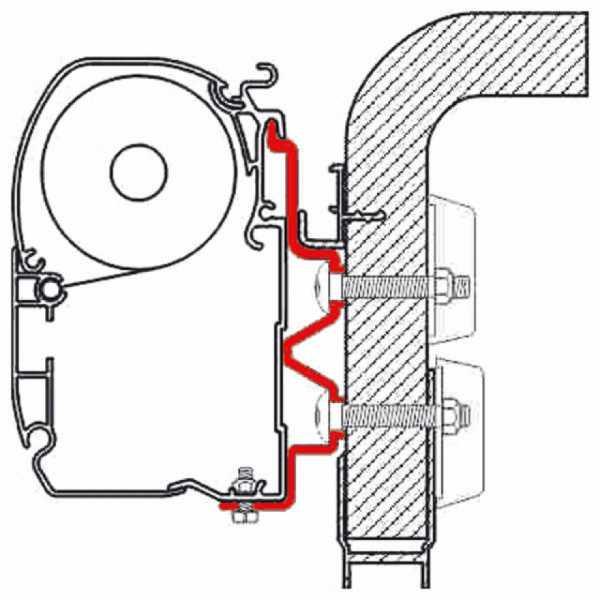 Adapter F1/F45i/F45iL Hymer Camp 4m