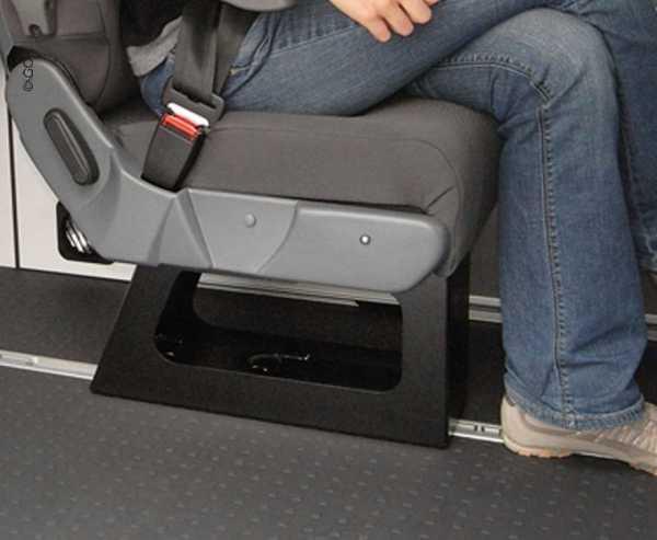 Sockel für Einzelsitz A400 bei VW T6/T5, Renault Trafic, Mercedes Vito