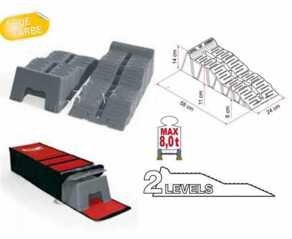 Stufenkeile Fiamma Kit level Up Jumbo grau mit Tasche