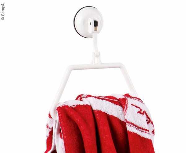 Handtuchhalter mit Saugnapf, weis, bis 2kg