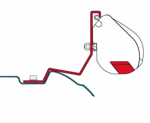 Fiamma F35 Adapter für Mercedes Vito/Viano und V-Klasse