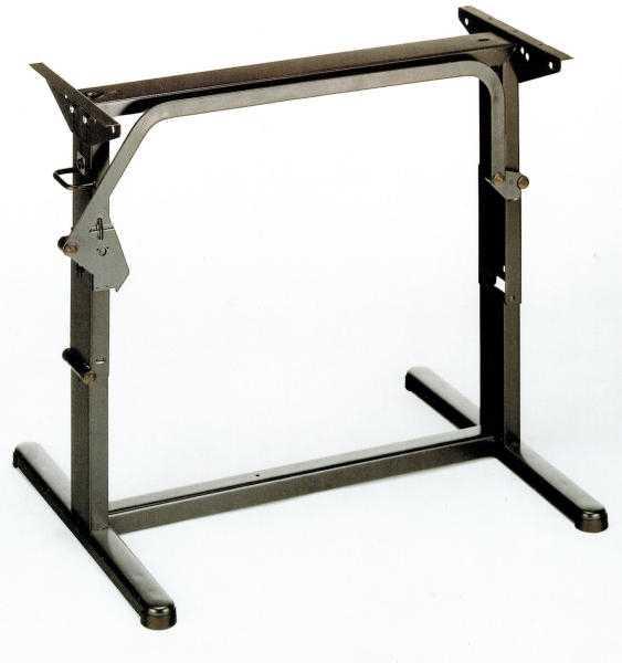 Hubtischgestell, Metall - 75 cm, Braun