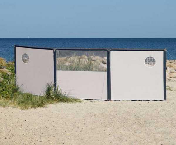 Variables Windschutzsystem erweiterbar auf Wunschlänge