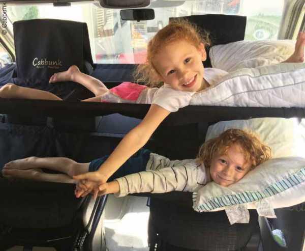 CABBUNK Doppelbett für Fahrerhaus Ford Transit, belastbar bis je 70kg