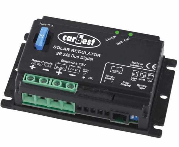 PWM Laderegler, Carbest 12V Solar Controller SR140 Duo Digital