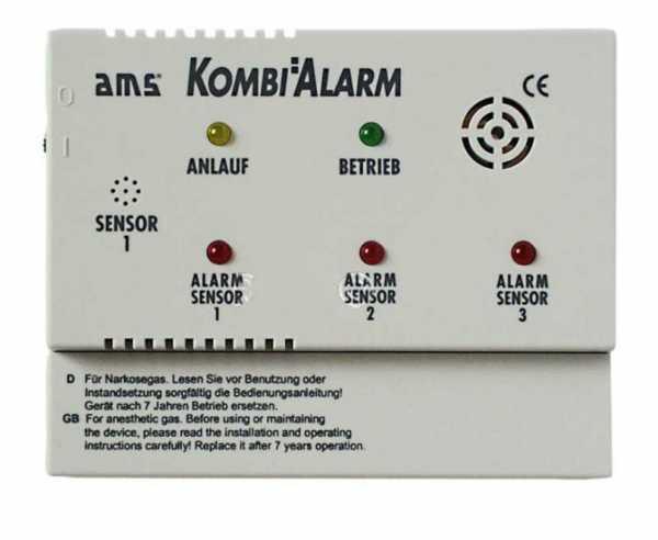 AMS Gas-Alarmgerät Kombialarm - Anlage 12V