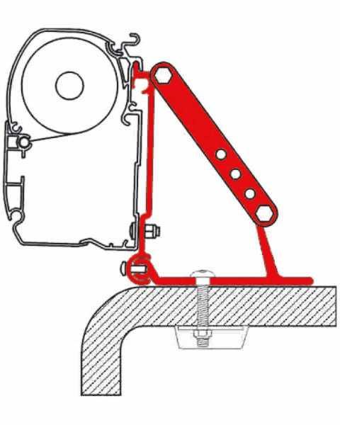 Adapter Kit Roof für Alkovenfahrzeuge