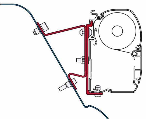 Fiamma F45 Adapter VW Crafter / Sprinter mit Hochdach