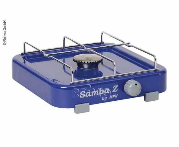 Gaskocher Samba mit Zündsicherung, 1-flammig, blau, 50mbar