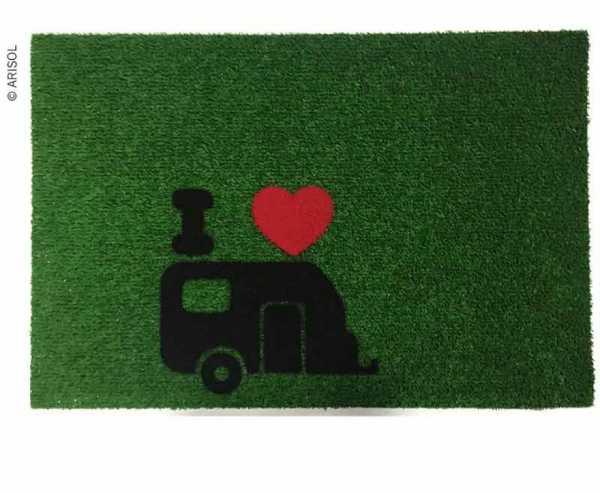 Fussmatte GREEN FLOCK 40x60cm, grün, PP/Gummi, mit Motiv