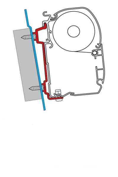 Fiamma F45 Adapter für Mercedes Sprinter und VW Crafter