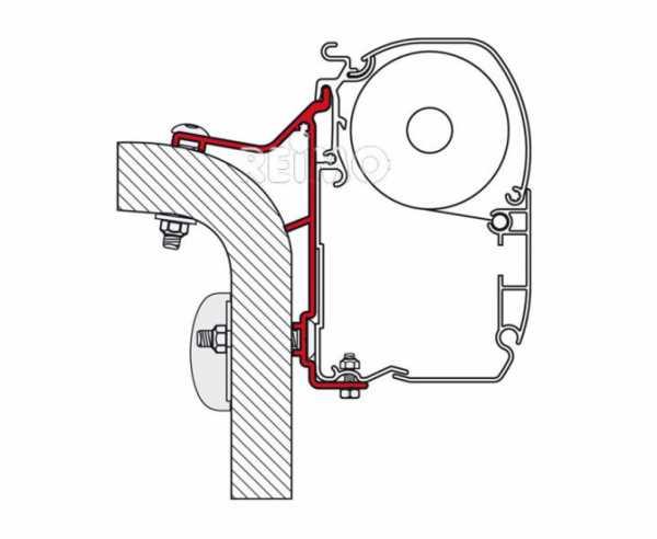 Fiamma Wand-Montage-Adapter Hymer Van / B2