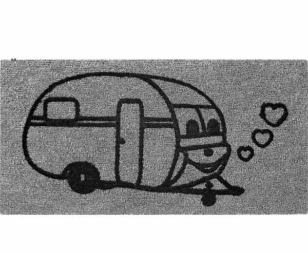 FUSSMATTE »CARAVAN« 50 x 25cm, DERBY FLOCK