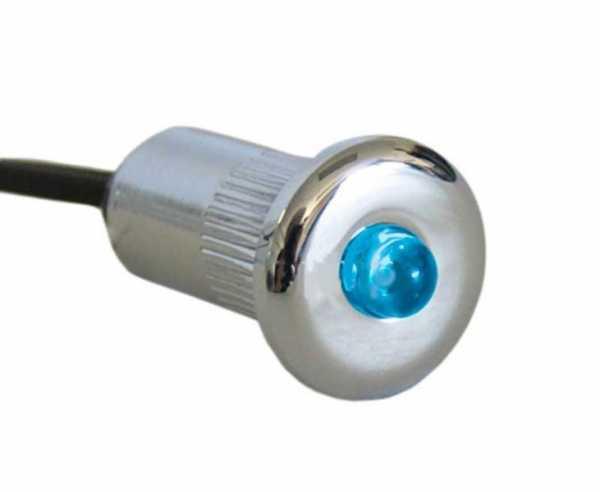 LED Spot Einbau mini, DM 15mm, 0,2W, blau