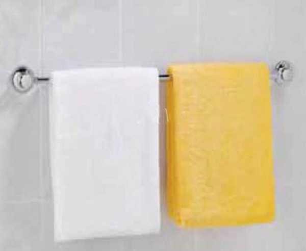 Handtuchhalter-Stange mit 2 Saugnäpfen, L 50cm