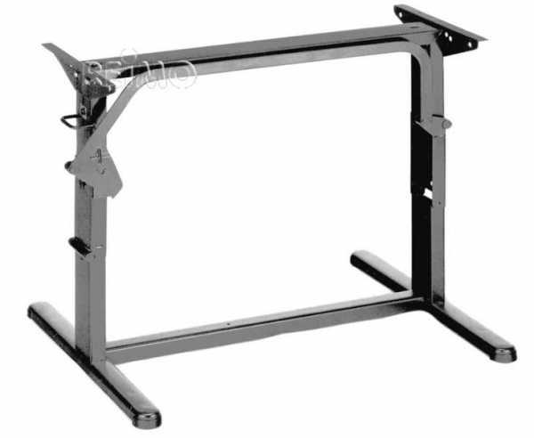 Hubtischgestell, Metall - 75 cm, Hellgrau
