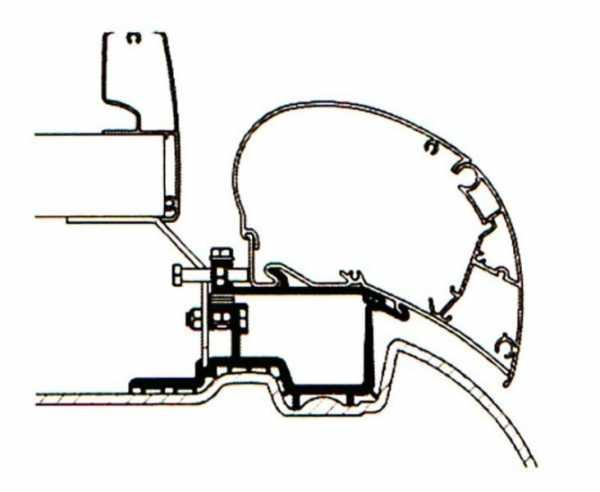 Thule Omnistor 6300 Markisen-Adapter für VW Crafter bis Baujahr 2017