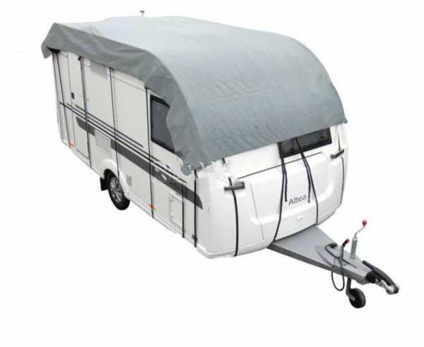 Wohnwagen Schutzdach 755x300cm grau atmungsaktiv